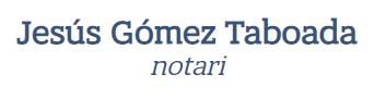 notarios barcelona jesus gomez taboada logo